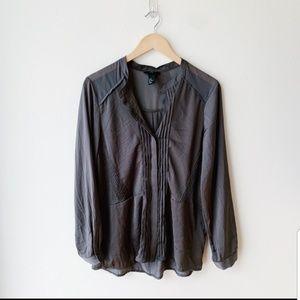 Tops - Silky H&M long sleeve top